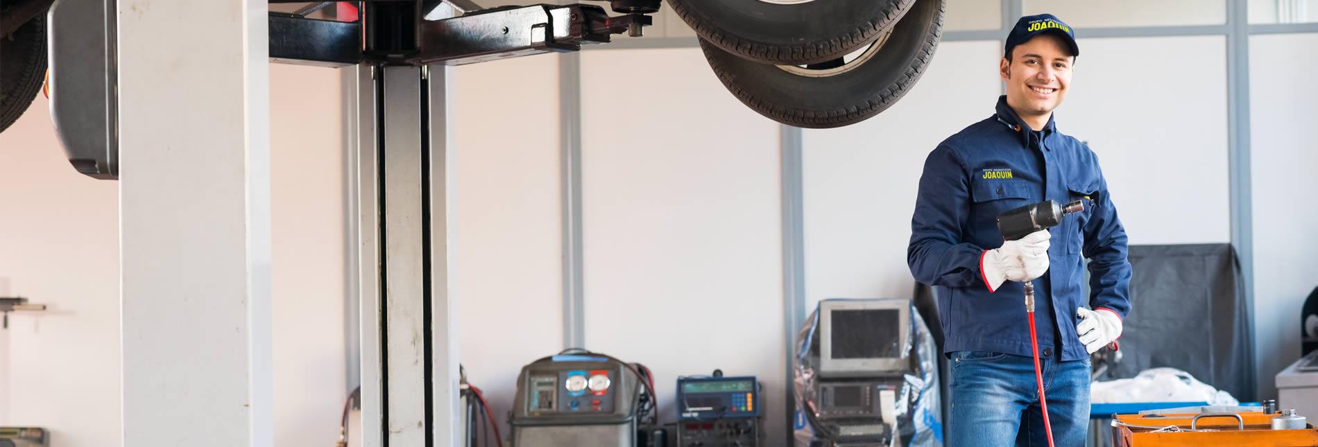 Taller de mecánica rápida<br /> y cambio de neumáticos<br /> en Getafe